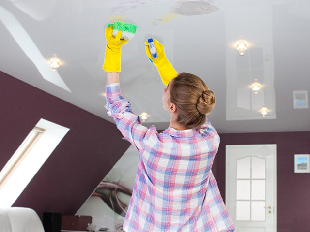 Cleaning Stretch Ceilings