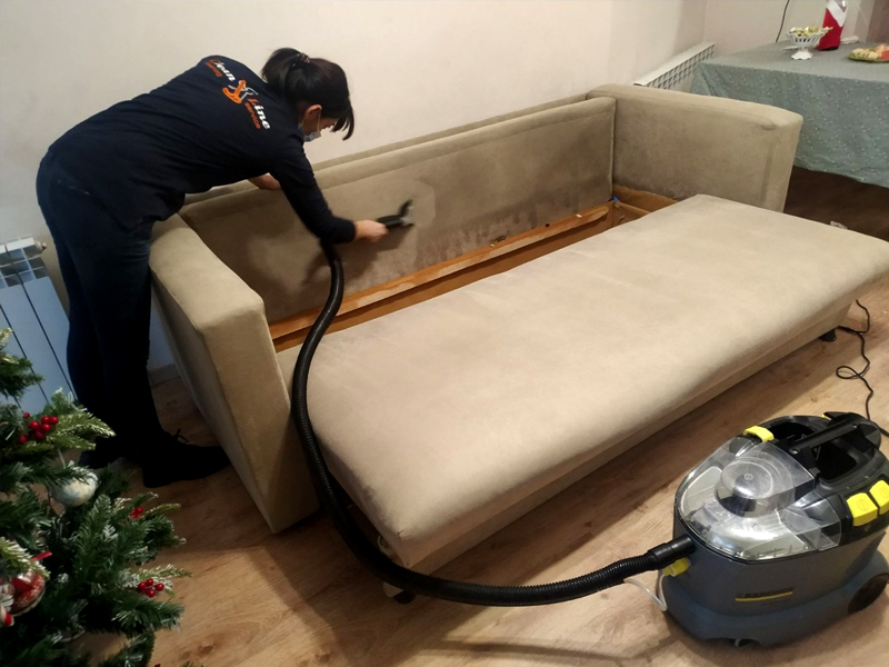 Upholstered furniture   Chem cleaning service