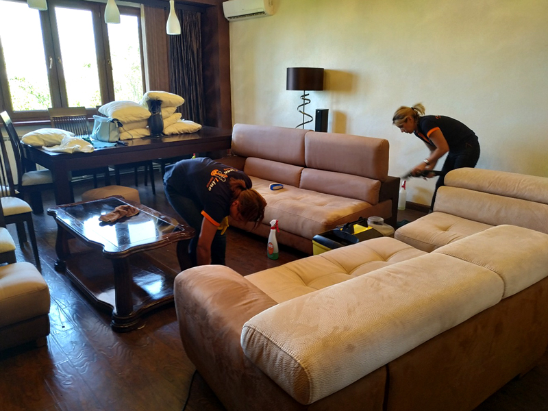 Upholstered furniture  Sofa chem cleaning