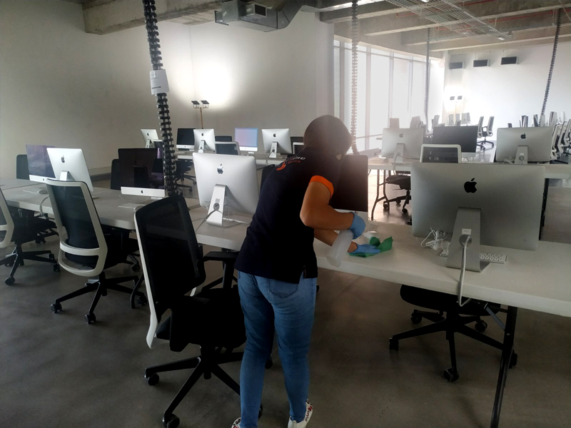 Office spaces  Ongoing cleanliness