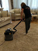 Cleaning of carpet coverage